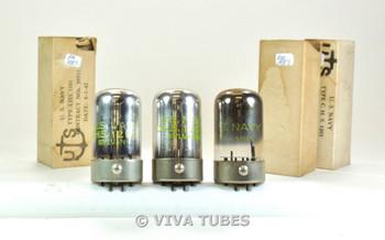 NIB NOS Matched Trio (3) Sylvania USA USN-CHS-1201 [7E5] Top Get Vacuum Tubes