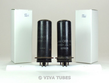 NOS Date Matched Pair Ken-Rad USA JAN-CKR-1619/VT-164 Metal Rust Vacuum Tubes