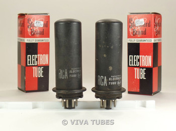 Matched Pair RCA USA 1631 Metal Vacuum Tubes 93%