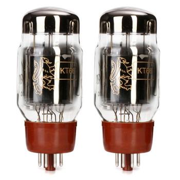 New Matched Pair (2) Genalex Gold Lion KT66 Reissue Vacuum Tubes