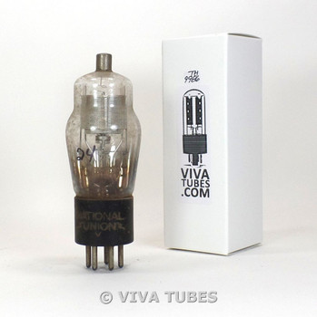 NOS NU USA Type 24A Silver Mesh Plate D Foil Get ENGRAVED Vacuum Tube 100+%