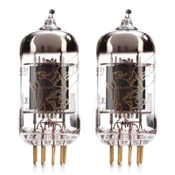 New Matched Pair (2) Genalex Gold Lion 12AX7 / ECC83 / B759 Gold Pin Reissue Vacuum Tubes