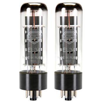 New Matched Pair (2) Reissue Mullard EL34 / 6CA7 Vacuum Tubes