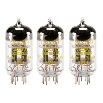 New Matched Trio (3) Electro-Harmonix 12AX7 Vacuum Tubes
