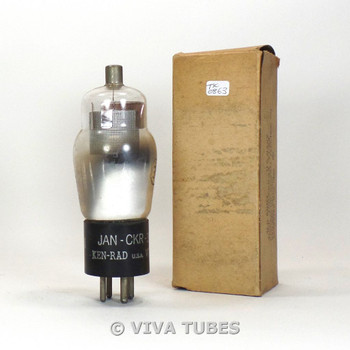 True NOS NIB Ken-Rad USA Type JAN-CKR-34/VT-54 Silver Mesh Plate Vacuum Tube