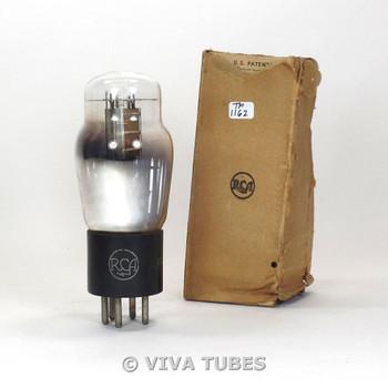 True NOS NIB RCA USA Type 49 Silver Plate D Foil Get Vacuum Tube 100+%