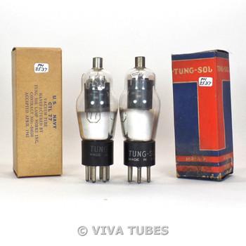 True NOS NIB Matched Pair Tung-Sol USA Type CTL-77 Grey Plate Vacuum Tubes