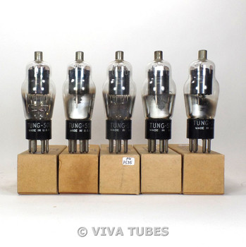 True NOS NIB Matched Sleeve (5) Tung-Sol USA Type CTL-77 Vacuum Tubes