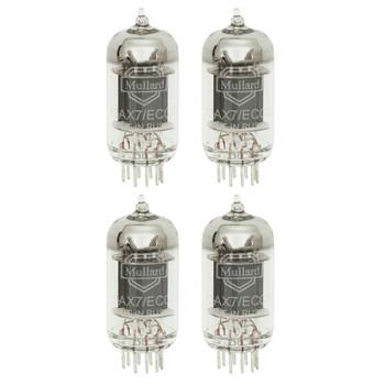 New Matched Quad (4) Mullard Reissue 12AX7 Vacuum Tubes