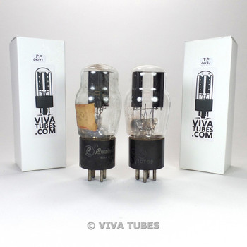 Tests NOS Matched Pair RCA USA Type 80 Rectfier Black Plate Vacuum Tubes