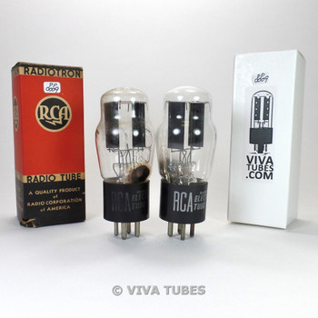 Tests NOS Date Matched Pair RCA USA Type 80 Rectfier Black Plate Vacuum Tubes