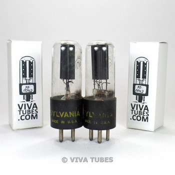 Tests NOS Date Matched Pair Sylvania USA Type 80 Rectfier Vacuum Tubes