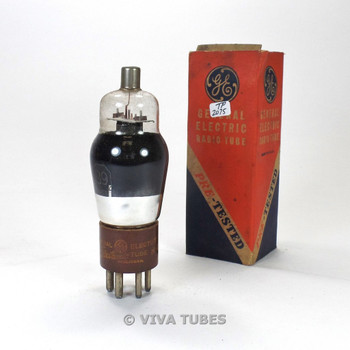 True NOS NIB GE USA Type 89 Grey Plate SMOKED Brown Base Vacuum Tube