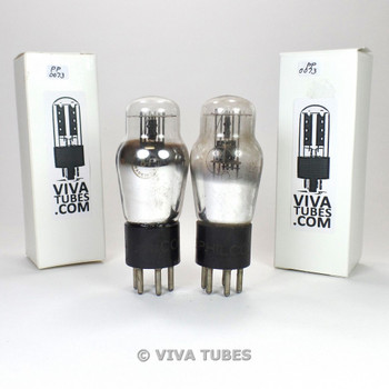 Tests NOS Matched Pair Philco USA 84 = 6Z4 ENGRAVED S-Rods Vacuum Tubes