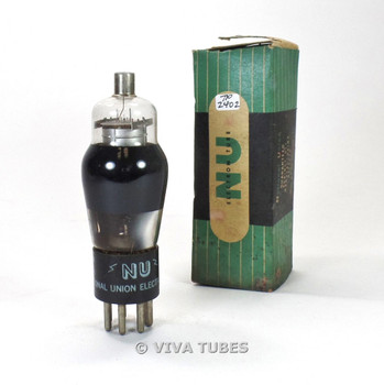 True NOS NIB National Union NU USA 2A7 Smoked Glass Vacuum Tube 100%+