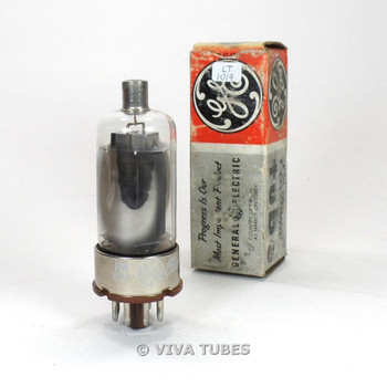 True NOS NIB Marconi [GE] Canada 2E26 Black Smooth Plate Vacuum Tube 100%