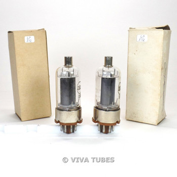 True NOS NIB Date Matched Pair RCA USA JAN-CRC-2E26 Black Plate Vacuum Tubes