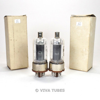 True NOS NIB Matched Pair RCA USA JAN-CRC-2E26 Blk Smooth Plate Vacuum Tubes