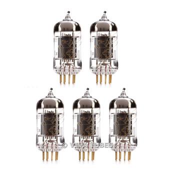 New Matched Quintet (5) Genalex Gold Lion 12AX7 / ECC83 / B759 Gold Pin Reissue Vacuum Tubes