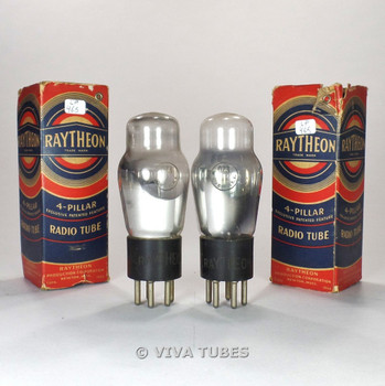 True NOS NIB Matched Pair Raytheon USA 0Z3 OZ3 Vacuum Tubes