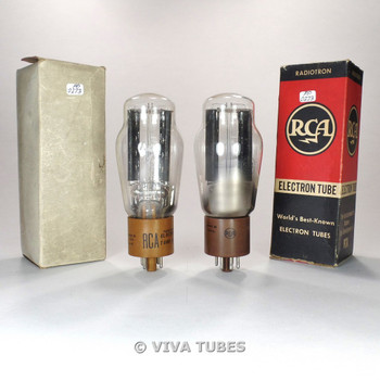 True NOS NIB Matched Pair RCA USA 5R4GY Get HANGING FILAMENT Tubes 100+%
