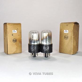 True NOS NIB Matched Pair RCA USA 1C5GT Silver Plate D Foil Get Vacuum Tubes