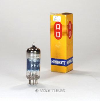 True NOS NIB Mullard Gt Britain EF91=6AM6 Silver Plate Vacuum Tube 100+%