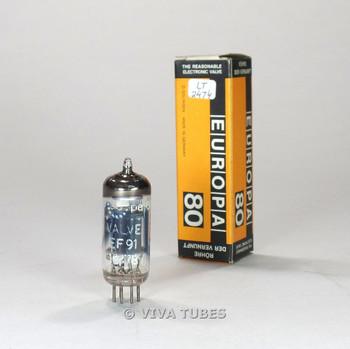 True NOS NIB Mullard England EF91=6AM6 Silver Plate O Get Vacuum Tube 100+%