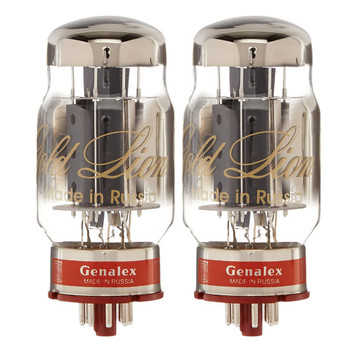 New Matched Pair (2) Genalex Gold Lion KT88 Reissue Vacuum Tubes