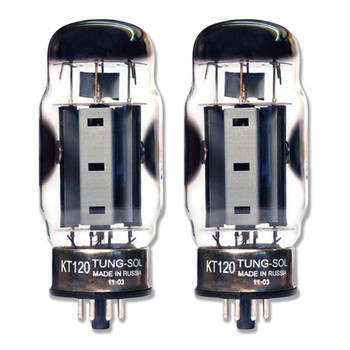 New Matched Pair (2) Tung-Sol KT120 Vacuum Tubes