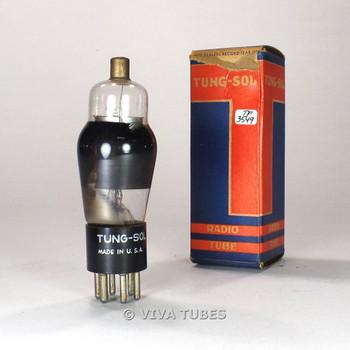 True NOS NIB Tung-Sol USA 1C6 Silver Ribbed Plate Smoked Glass Vacuum Tube 100%+