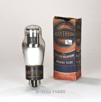 True NOS NIB Raytheon USA 2A4G Black Plate Bottom D Foil Get Vacuum Tube 100%+