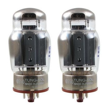 New Matched Pair (2) Tung-Sol 6550 Coke Bottle Reissue Vacuum Tubes