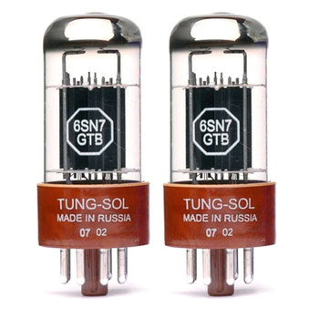 New Matched Pair (2) Tung-Sol 6SN7GTB Vacuum Tubes