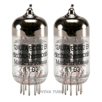 Brand New In box Gain Matched Pair (2) Electro-Harmonix 12AU7 ECC82 Vacuum Tubes