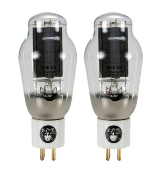 New Matched Pair (2) Electro-Harmonix 300B Gold Pins Ceramic Vacuum Tubes