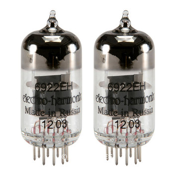 Brand New Gain Matched Pair (2) Electro-Harmonix 6922 (6DJ8) Vacuum Tubes