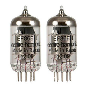 Brand New Gain Matched Pair (2) Electro-Harmonix EF86 / 6267 Vacuum Tubes