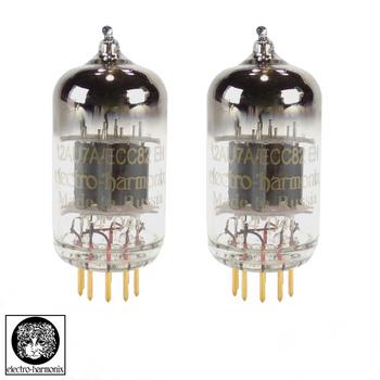New Matched Pair (2) Electro-Harmonix 12AU7 / ECC82 GOLD PINS Vacuum Tubes