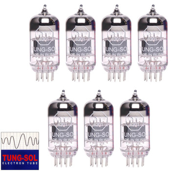 Brand New Tung-Sol Reissue 12AT7 6201 ECC81 GAIN MATCHED Septet (7) Vacuum Tubes