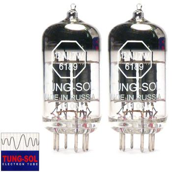 New Matched Pair (2) Tung-Sol 12AU7 / 6189 (ECC82) Vacuum Tubes