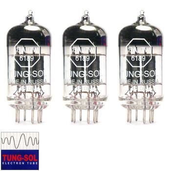 New Matched Trio (3) Tung-Sol 12AU7 / 6189 (ECC82) Vacuum Tubes
