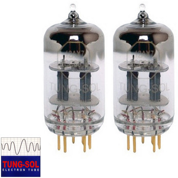 New Tung-Sol Reissue GOLD PIN 12AX7 ECC83 GAIN MATCHED Pair (2) Vacuum Tubes