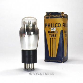 True NOS NIB Philco USA 6A4 Silver Plate D Foil Get ENGRAVED Vacuum Tube 100%+