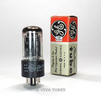 True NOS NIB GE USA 6BL7GT 2 Black Center Plate Top [] Get Vacuum Tube 100%+