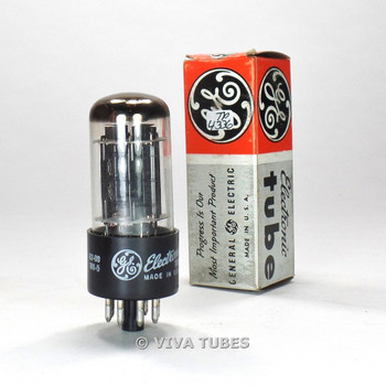 True NOS NIB GE USA 6BL7GT 2 Black Center Plate Top O Get Vacuum Tube 100%+