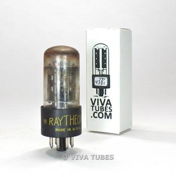 Tests NOS Raytheon USA 6BL7GTA 2 Black Center Plate Top O Get Vacuum Tube 100%+