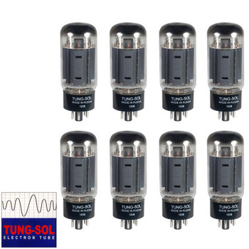 Brand New Tung-Sol Reissue 7581A KT66 Current Matched Octet (8) Vacuum Tubes