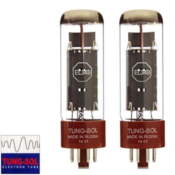 New Matched Pair (2) Tung-Sol EL34B Vacuum Tubes