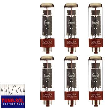 New Matched Sextet (6) Tung-Sol EL34B Vacuum Tubes